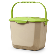 TOT2602-SL-G100 - Toter - 2 Gallon Kitchen Composting Container with Lid, Beige