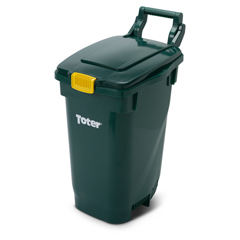 TOT2613-SL-G100 - Toter - 13 Gallon Curbside Composting Container with Lid