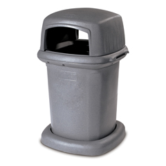 TOT840GK-55710 - Toter - 45 Gal. Graystone Park Trash Can with Lid