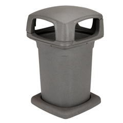 TOT860GB-35865 - Toter - 60 Gal. Graystone Park Trash Can with Lid