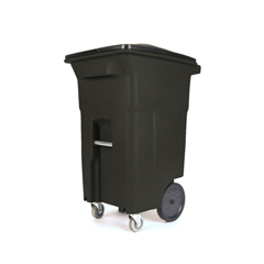 TOTACC64-10975 - Toter - 64 Gal. Brownstone Trash Can with Wheels and Lid (2 caster wheels 2 stationary wheels)