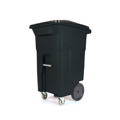 TOTACC64-10978 - Toter - 64 Gal. Blackstone Trash Can with Wheels and Lid (2 caster wheels 2 stationary wheels)