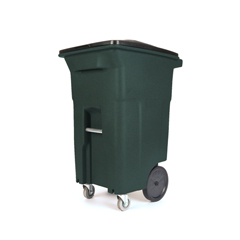 TOTACC64-56915 - Toter - 64 Gal. Greenstone Trash Can with Wheels and Lid (2 caster wheels 2 stationary wheels)