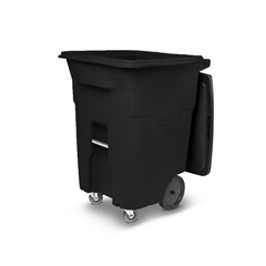 TOTACC96-10202 - Toter - 96 Gal. Blackstone Trash Can with Wheels and Lid (2 caster wheels 2 stationary wheels)