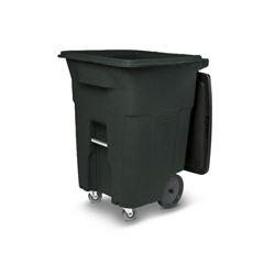 TOTACC96-50501 - Toter - 96 Gal. Greenstone Trash Can with Wheels and Lid (2 caster wheels 2 stationary wheels)