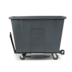 TOTAMT10-00IGY - Toter - 1 Cubic Yard 1,000 lbs. Capacity Towable Mobile Truck - Industrial Gray