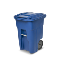 TOTANA48-00BLU - Toter - 48 Gal. Blue Trash Can with Smooth Wheels and Lid