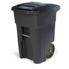 TOTANA48-00BST - Toter - 48 Gal. Brownstone Trash Can with Smooth Wheels and Lid
