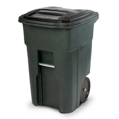 TOTANA48-51406 - Toter - 48 Gal. Greenstone Trash Can with Smooth Wheels and Lid