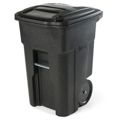 TOTANA48-56599 - Toter - 48 Gal. Blackstone Trash Can with Smooth Wheels and Lid