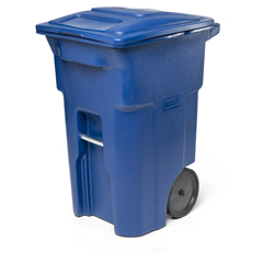 TOTANA64-00BLU - Toter - 64 Gal. Trash Can Blue with Quiet Wheels and Lid