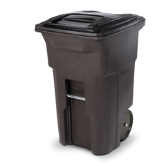 TOTANA64-00BST - Toter - 64 Gal. Trash Can Brownstone with Quiet Wheels and Lid