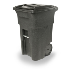 TOTANA64-10548 - Toter - 64 Gal. Trash Can Blackstone with Quiet Wheels and Lid
