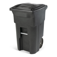 TOTANA64-54480 - Toter - 64 Gal. Trash Can Greenstone with Quiet Wheels and Lid