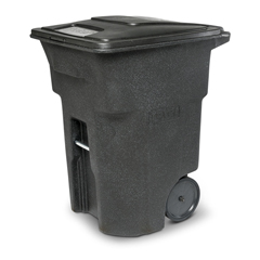 TOTANA96-00BKS - Toter - 96 Gal. Blackstone Trash Can with Smooth Wheels and Lid