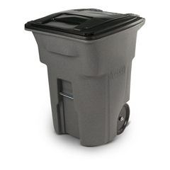 TOTANA96-10599 - Toter - 96 Gal. Graystone Trash Can with Smooth Wheels and Lid