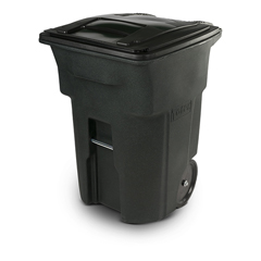 TOTANA96-54342 - Toter - 96 Gal. Greenstone Trash Can with Smooth Wheels and Lid