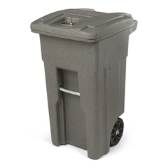 TOTCDA32-00GST - Toter - 32 Gal. Graystone Document Trash Can with Wheels and Key Lid Lock