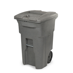 TOTCDA64-53877 - Toter - 64 Gal. Graystone Document Trash Can with Wheels and Lid Lock