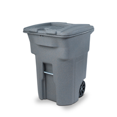 TOTCDA96-53878 - Toter - 64 Gal. Graystone Document Trash Can with Wheels and Lid Lock