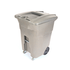 TOTCDC96-00GST - Toter - 96 Gal. Graystone Document Trash Can with Wheels and Key Lid Lock (2 caster wheels 2 stationary wheels)