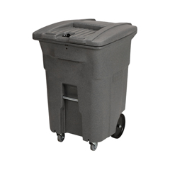 TOTCDC96-41997 - Toter - 96 Gal. Graystone Document Trash Can with Wheels and Hasp Lock (2 Standard Caster, 2 Stationary Wheels)