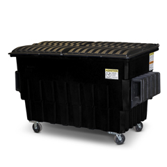 TOTFL020-10756 - Toter - 2 Cubic Yard 1000 lbs. Capacity Front Load Container (2 Standard Casters and 2 Swivel Casters) - Black