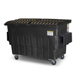 TOTFL020-U0MGY - Toter - 2 Cubic Yard 1000 lbs. Capacity Front Load Container (2 Standard Casters and 2 Swivel Casters) - Midnight Gray