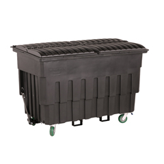 TOTFLM20-00BLK - Toter - 2 Cubic Yard 1000 lbs. Capacity Mobile Truck with Attached Duel Black Lids - Black