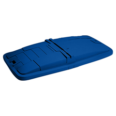 TOTLM110-00BLU - Toter - 1 Cubic Yard Removable Solid Lid for Universal or Towable Mobile Trucks - Blue