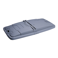 TOTLM110-00IGY - Toter - 1 Cubic Yard Removable Solid Lid for Universal or Towable Mobile Trucks - Industrial Gray