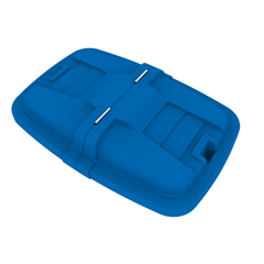 TOTLMC12-00BLU - Toter - 12 Cubic Feet Heavy Duty Manual Cube Truck Split Lid - Blue