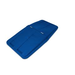 TOTLT115-00BLU - Toter - 1 1/2 Cubic Yard Removable Split Lid for Tilt Trucks - Blue