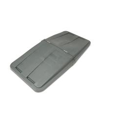 TOTLT115-00IGY - Toter - 1 1/2 Cubic Yard Removable Split Lid for Tilt Trucks - Industrial Gray