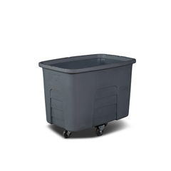 TOTMMC12-00IGY - Toter - 12 Cubic Feet 400 lbs. Capacity Heavy Duty Manual Cube Truck - Industrial Gray