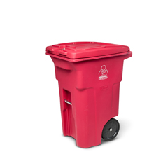 TOTRMN64-00RED - Toter - 64 Gal. Red Hazardous Waste Trash Can with Wheels and Lid Lock