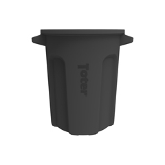 TOTRND20-B0200 - Toter - 20 Gal. Round Trash Can with Lift Handle - Black