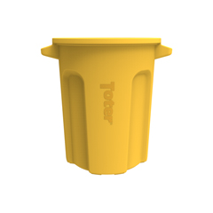 TOTRND20-B0390 - Toter - 20 Gal. Round Trash Can with Lift Handle - Yellow