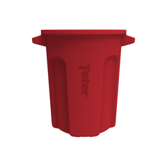 TOTRND20-B0570 - Toter - 20 Gal. Round Trash Can with Lift Handle - Red