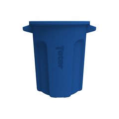 TOTRND20-B0705 - Toter - 20 Gal. Round Trash Can with Lift Handle - Blue
