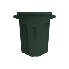 TOTRND20-B0960 - Toter - 20 Gal. Round Trash Can with Lift Handle - Forest Green