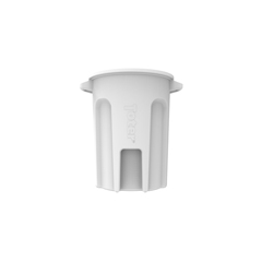 TOTRND32-B0111 - Toter - 32 Gal. Round Trash Can with Lift Handle - Bright White