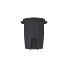 TOTRND32-B0149 - Toter - 32 Gal. Round Trash Can with Lift Handle - Dark Gray Granite