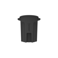 TOTRND32-B0200 - Toter - 32 Gal. Round Trash Can with Lift Handle - Black