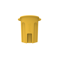TOTRND32-B0390 - Toter - 32 Gal. Round Trash Can with Lift Handle - Yellow