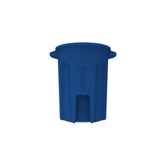 TOTRND32-B0705 - Toter - 32 Gal. Round Trash Can with Lift Handle - Blue