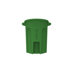 TOTRND32-B0780 - Toter - 32 Gal. Round Trash Can with Lift Handle - Bright Lime Green