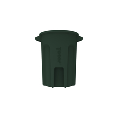 TOTRND32-B0960 - Toter - 32 Gal. Round Trash Can with Lift Handle - Forest Green
