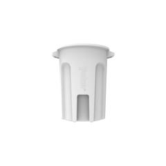 TOTRND44-B0111 - Toter - 44 Gal. Round Trash Can with Lift Handle - Bright White
