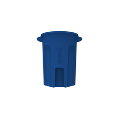 TOTRND44-B0705 - Toter - 44 Gal. Round Trash Can with Lift Handle - Blue